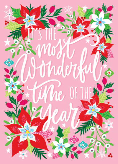 christmas-poinsettia-holly-pink-typography-jpg