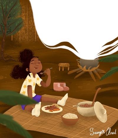 girl-eating-rice