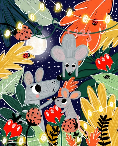 woodland-mouse-family