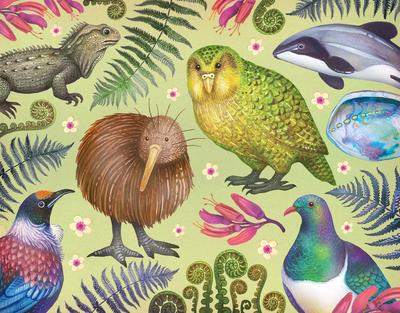 new-zealand-pattern-nature-watercolors-animals-plants-jpg