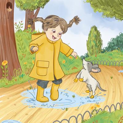 girl-puddle-dog-dog-jumping-park-autumn-rain-jpg