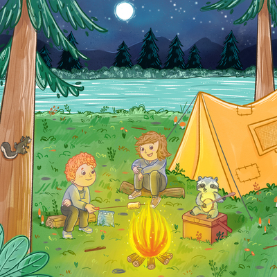 camping-racoon-squirrel-marshmallow-campfire-jpg